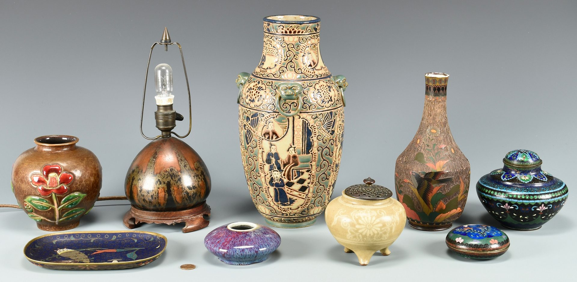 Lot 680: Group of Asian Decorative Items, 9 total