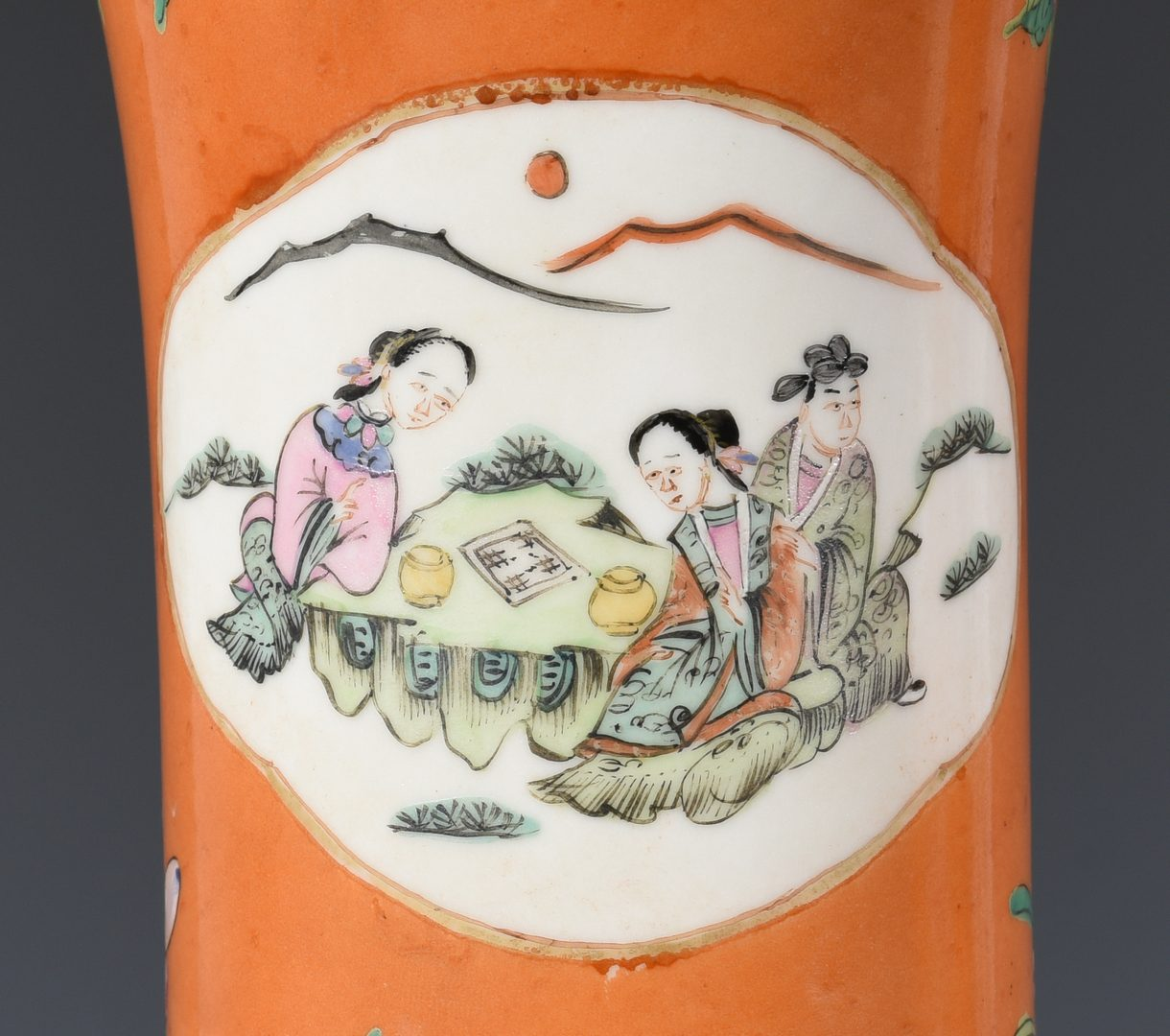 Lot 682: Pr. Chinese Export Porcelain Vases/Lamps