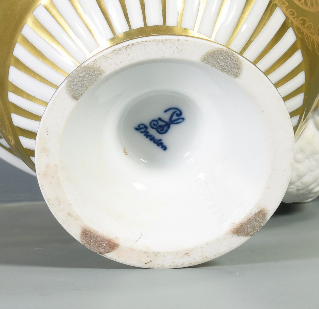 Lot 693:  3 European Porcelain Items inc. Dresden