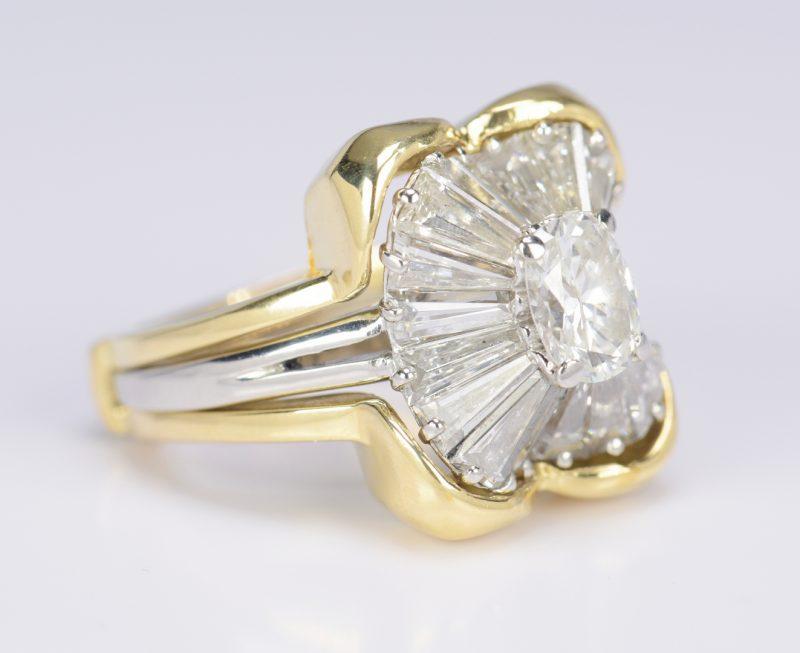 Lot 69: Ladies Diamond Platinum Ballerina Ring