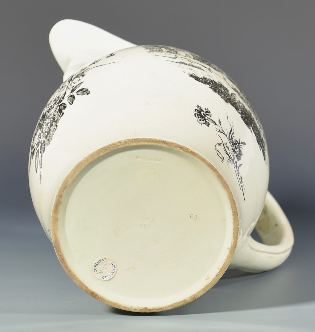 Lot 702:  18th Cent. Wedgwood Transferware Pitcher