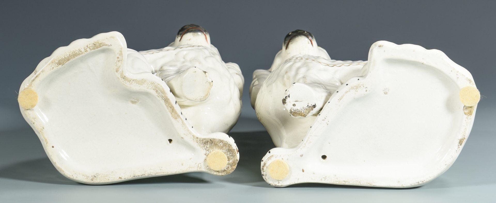 Lot 703: 6 English Staffordshire Pottery Items