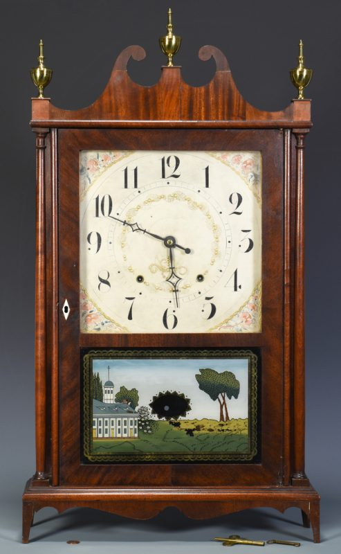 Lot 706: Seth Thomas Pillar & Scroll Mantel Clock