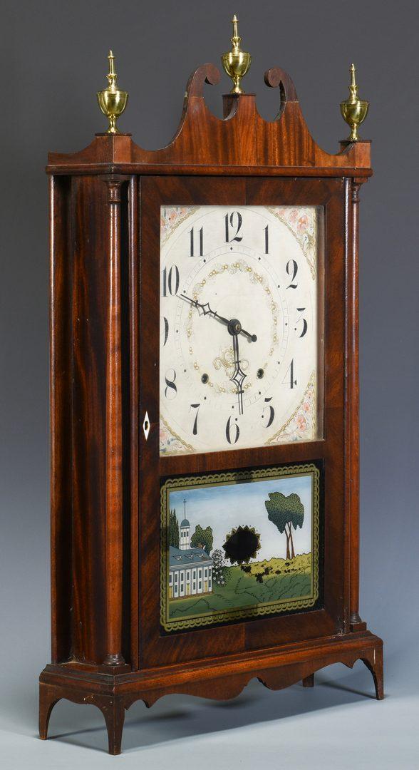 Lot 706: Seth Thomas Pillar & Scroll Mantel Clock