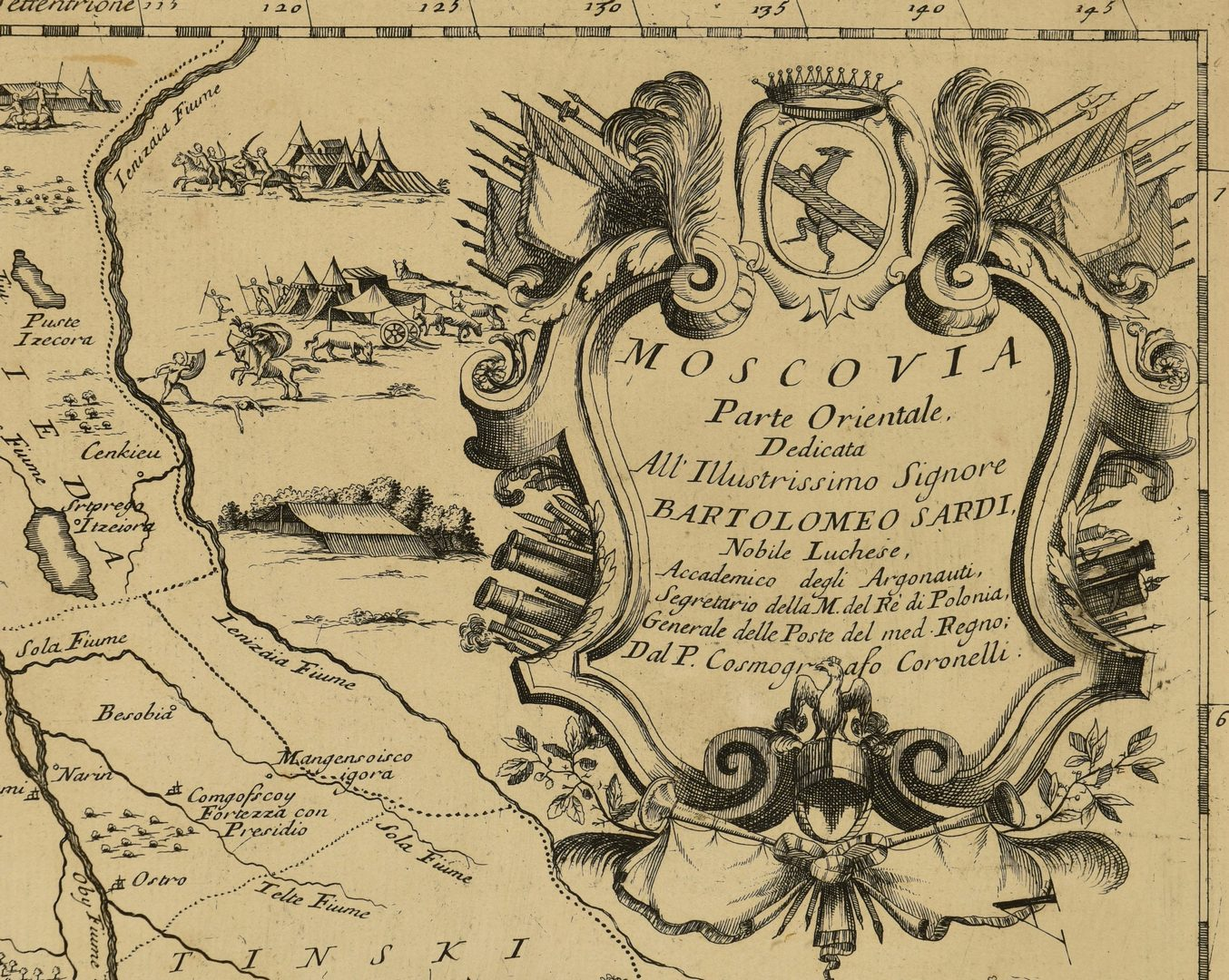 Lot 710: View of Pisa and Italian Map of Russia