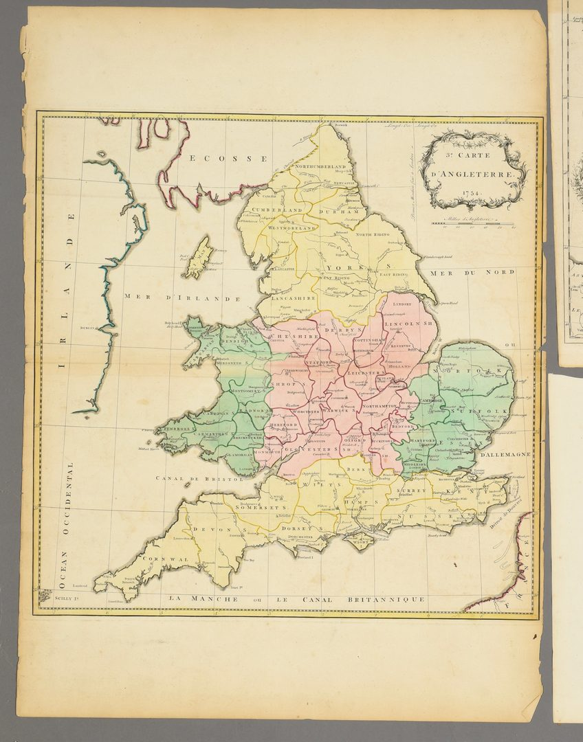 Lot 711: 3 European Maps Including France & England