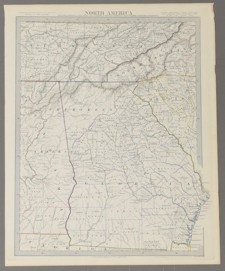 Lot 712: 2 United States Maps, including 1817.