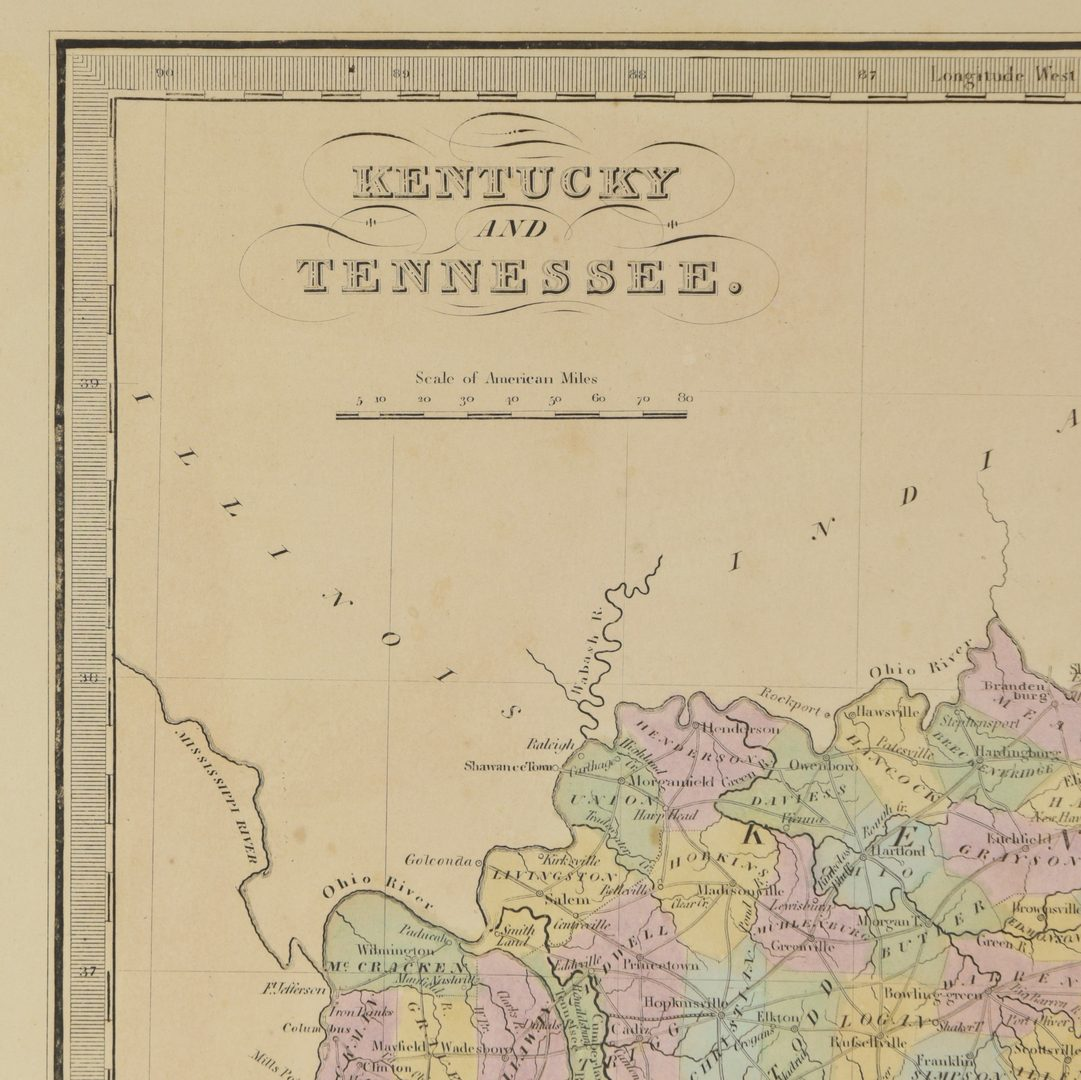 Lot 713: 3 TN and KY maps inc. Bradford, Greenleaf, Illman