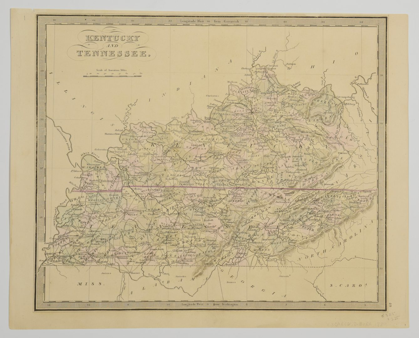 Lot 714: 3 TN and KY maps inc. Finley and 2 Greenleaf