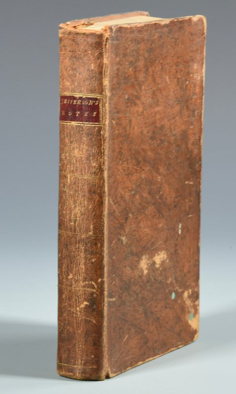 Lot 717: Thos. Jefferson: Notes on the State of VA