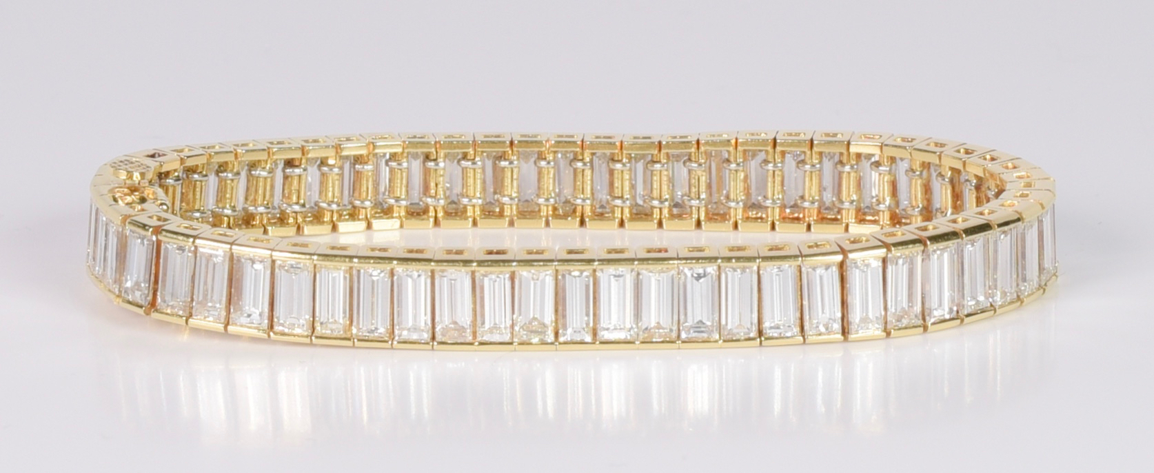 Lot 71: Diamond Baguette Bracelet, 17.70 cts
