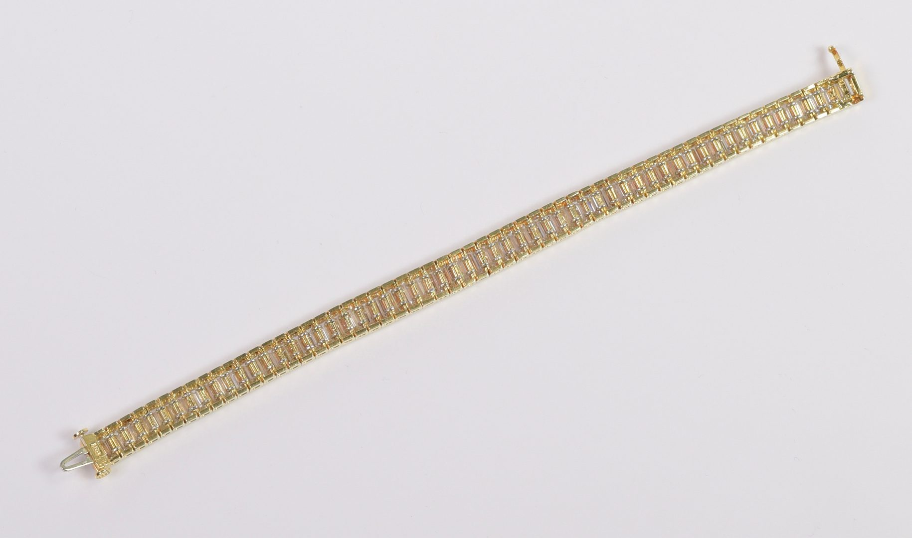 Lot 71: Diamond Baguette Bracelet, 17.70 cts