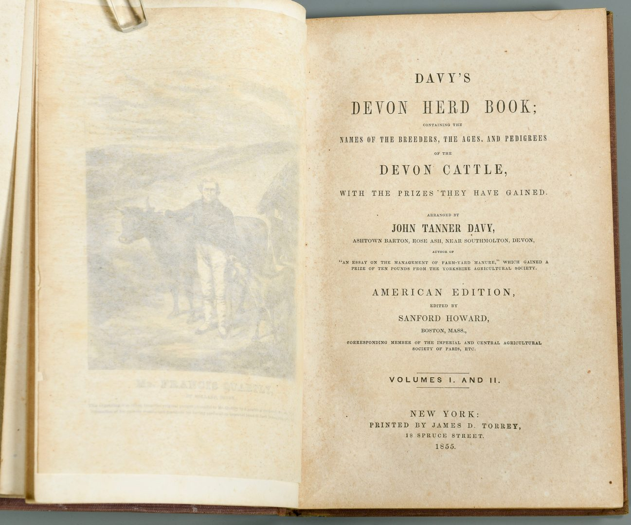 Lot 723: Davy's Devon Herd Book from Devon Farm