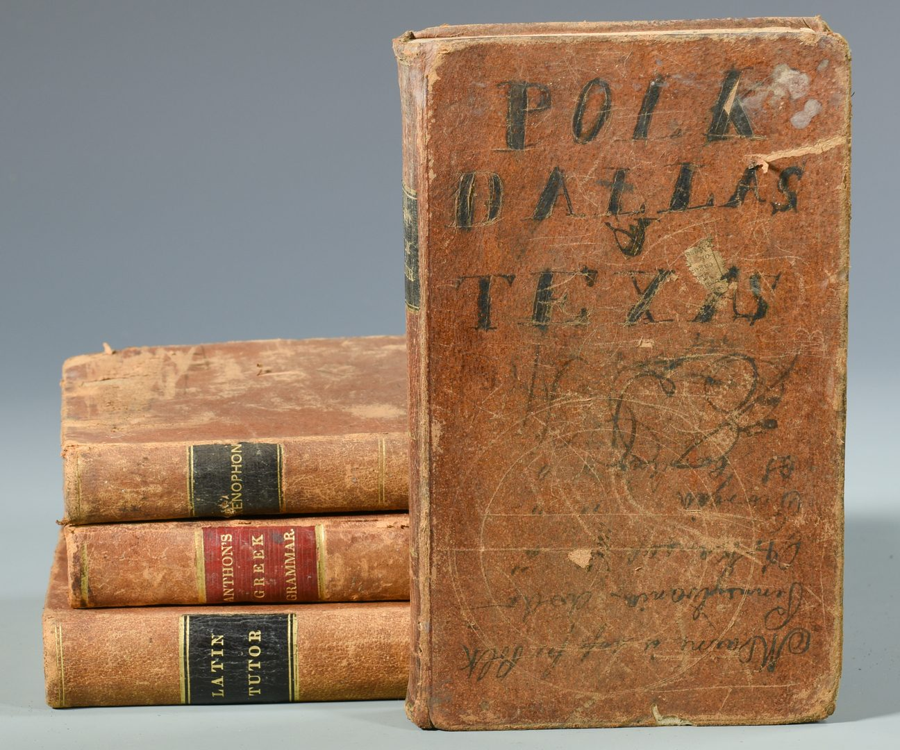 Lot 730: 12 Books w/ rare Binder, Bookseller Tickets, TN, VA