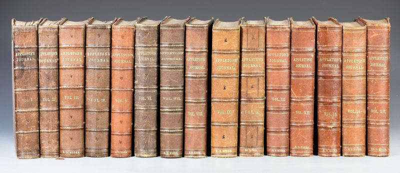 Lot 731: Set Appleton's Journals, First 15 vol. run