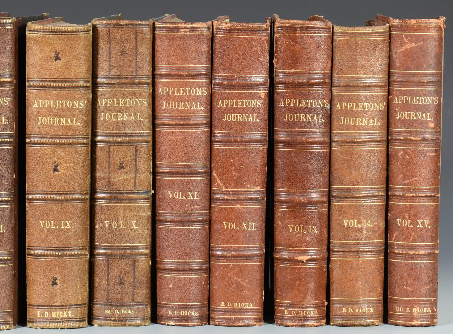 Lot 731: Set Appleton's Journals, First 15 vol. run