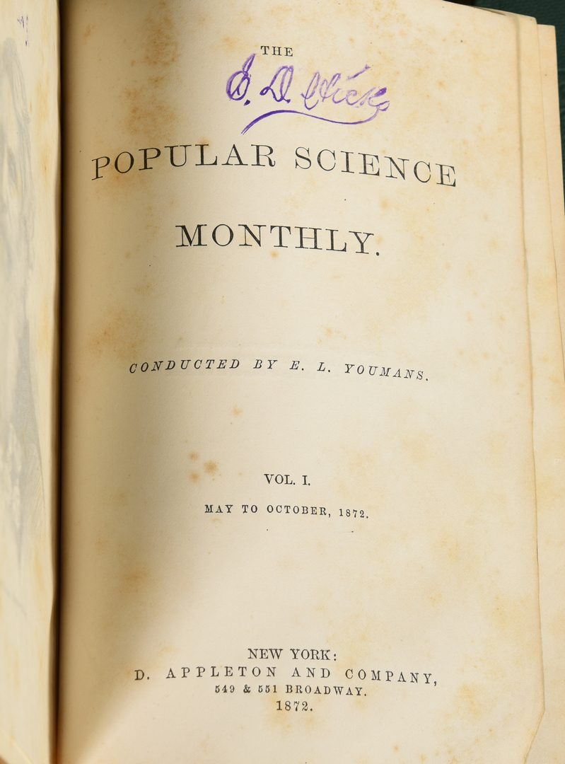 Lot 732: First Ed. Popular Science 1872-1879