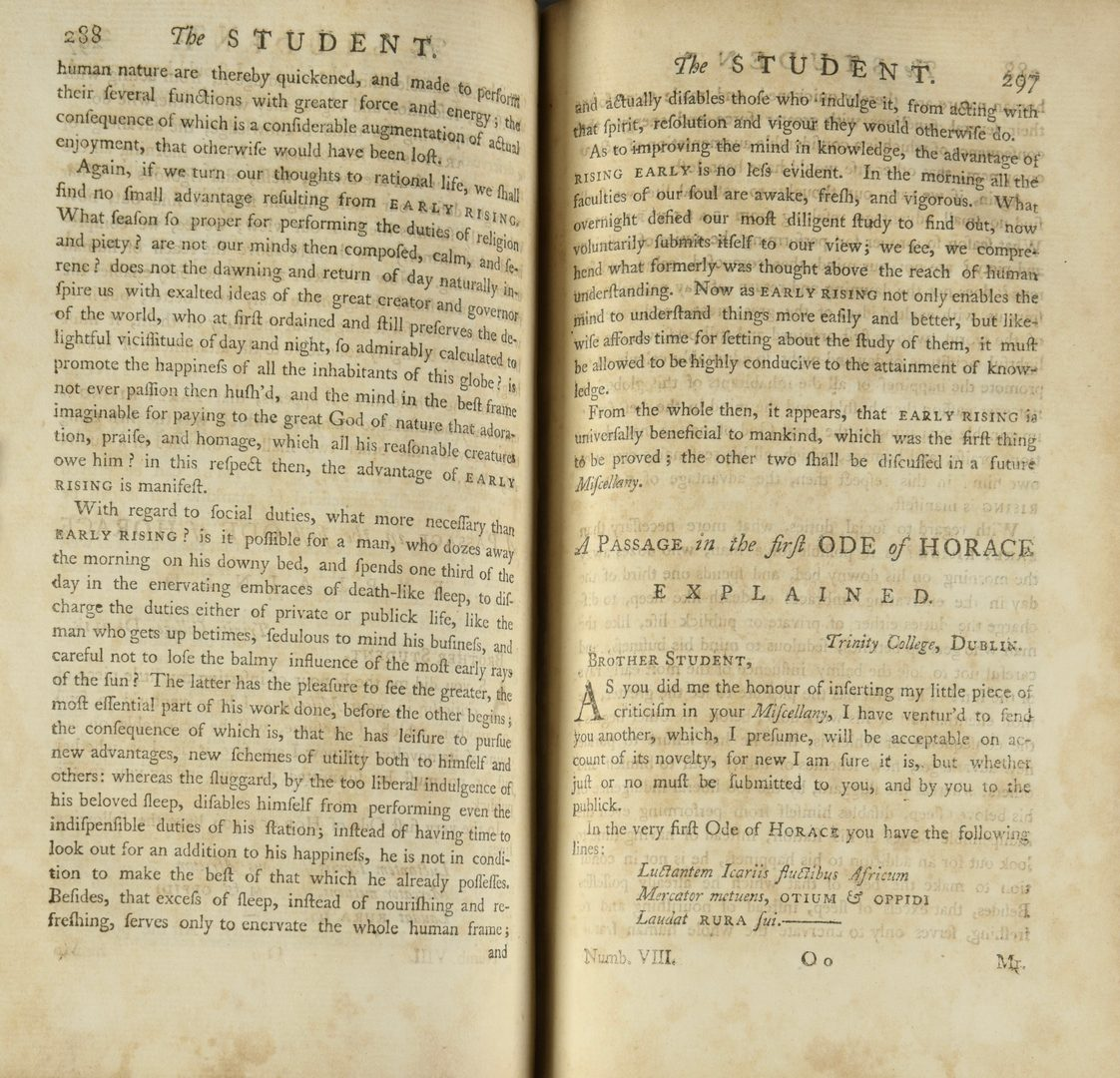 Lot 735: Olmsted's Astronomy, 1st Ed. & 1750 Oxford Student Monthly