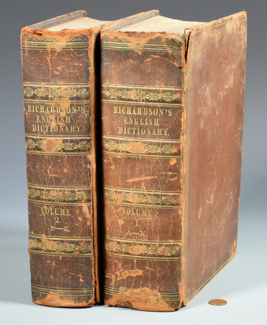Lot 736: Richardson's Dictionary, 1839, 2 vols.