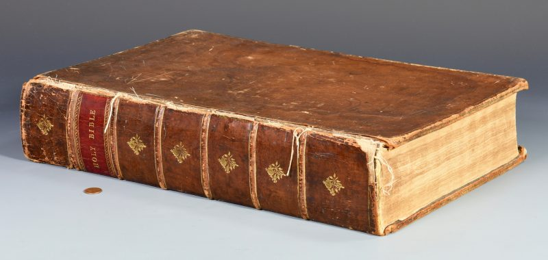 Lot 737: 1763 John Baskerville Bible
