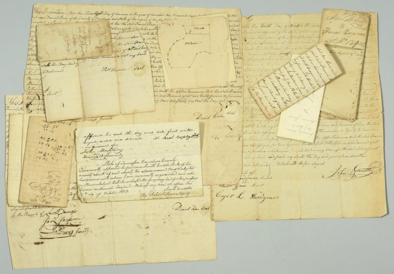 Lot 741: Group of assorted TN land indentures