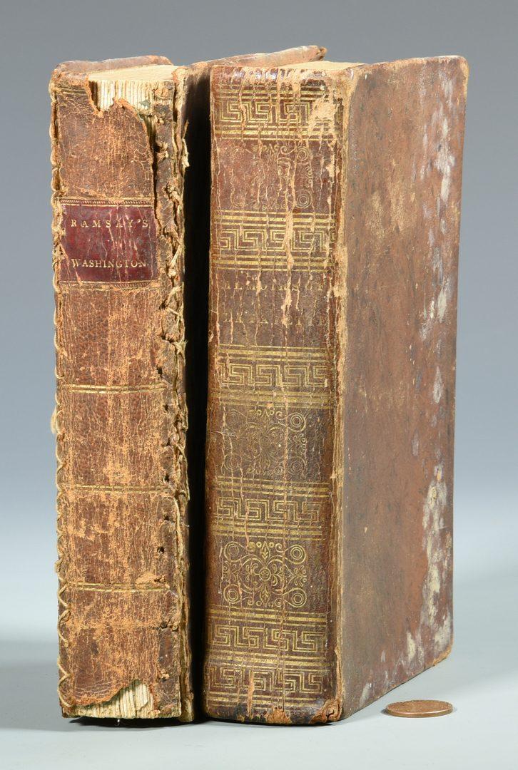 Lot 747: Washington Litho plus 2 Books- Washington and Lafayette