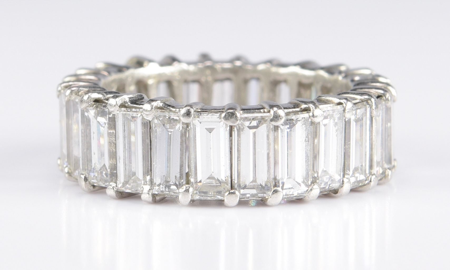 Lot 74: Baguette Dia Plat Eternity Ring, 7 ct T.W.