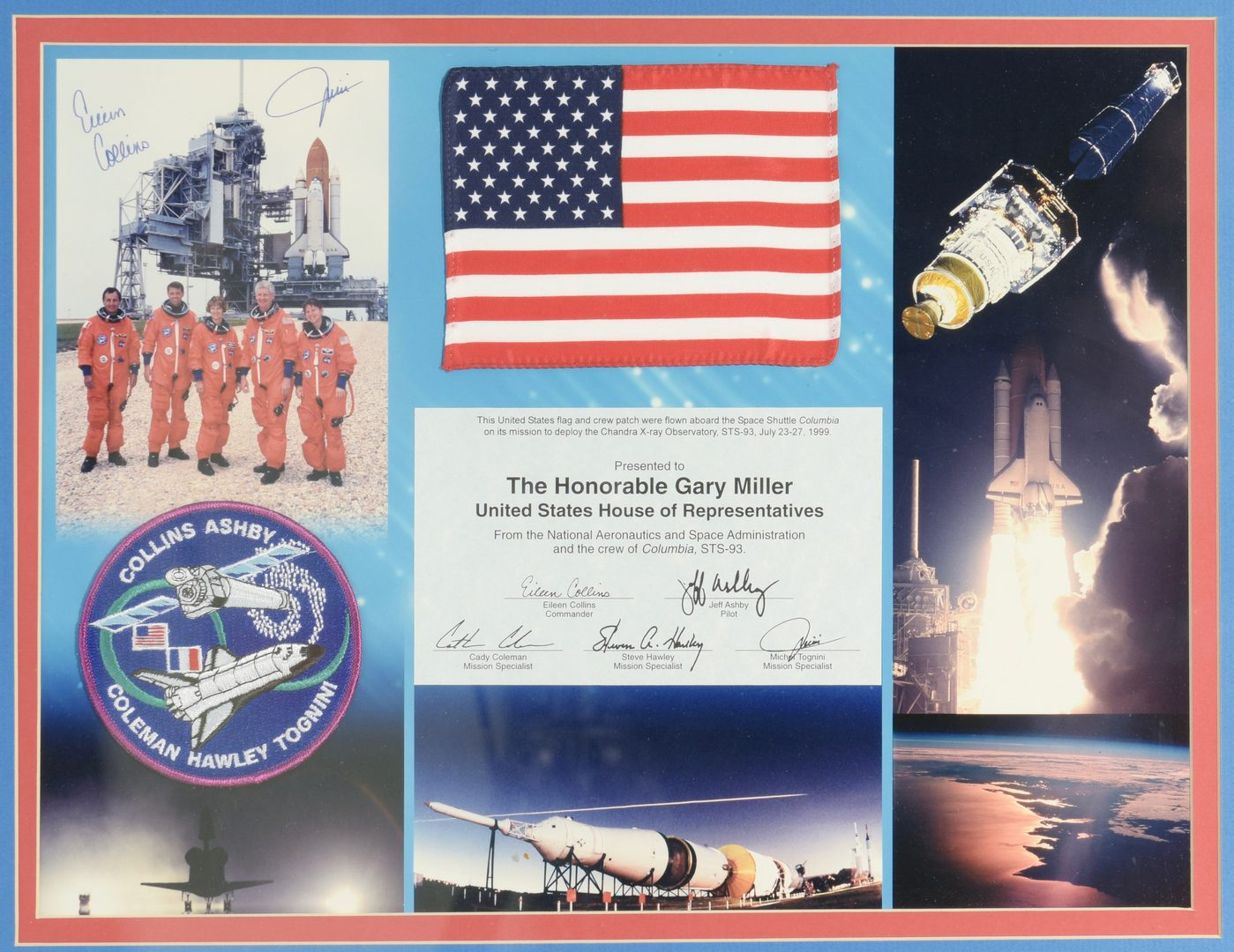 Lot 752: Space Shuttle Crew Patches and Flags, STS-1 and STS-93