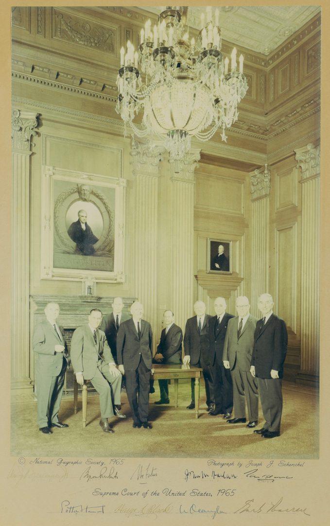 Lot 753: 1965 Signed US Supreme Court Photo