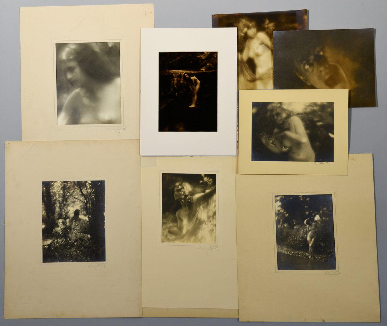 Lot 761: 8 Charlie Cook photographs inc. orotone