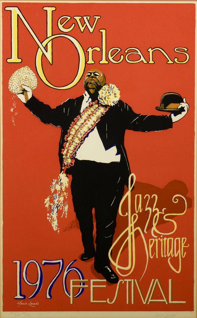 Lot 764: Signed 1976 N.O. Jazz & Heritage Festival Poster