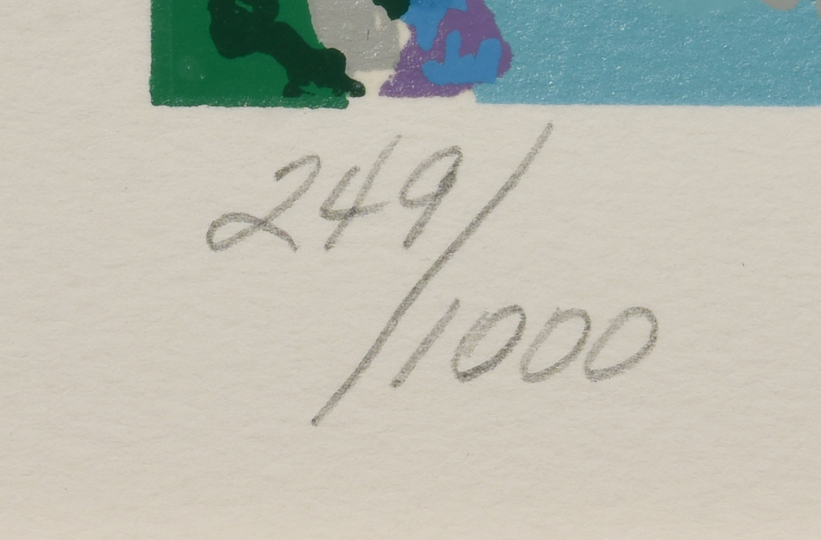 "Lot 765: Leroy Neiman, Serigraph, ""16th at Augusta"""