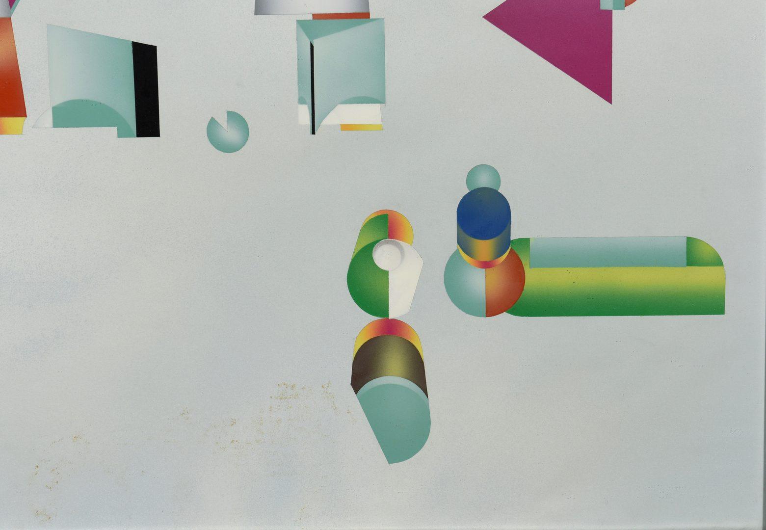 Lot 766: Ralph Cox, enamel on paper