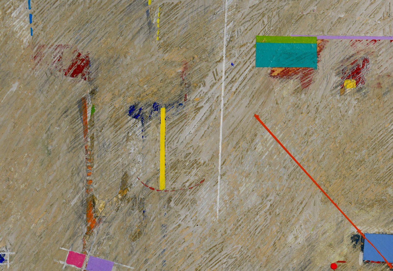 Lot 770: Myrna Burks acrylic on paper landscape