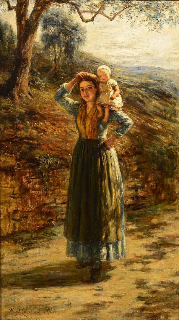Lot 772: Hugh Cameron, O/C, Woman and Child
