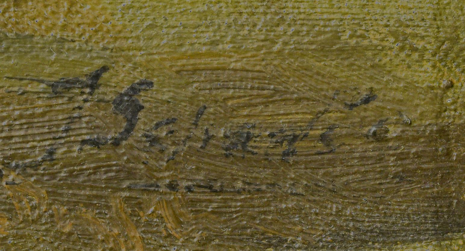 Lot 774: European Oil on Canvas River Landscape