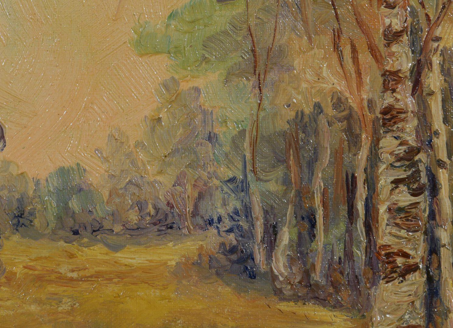 Lot 775: O/C landscape signed Barber R.S.A.