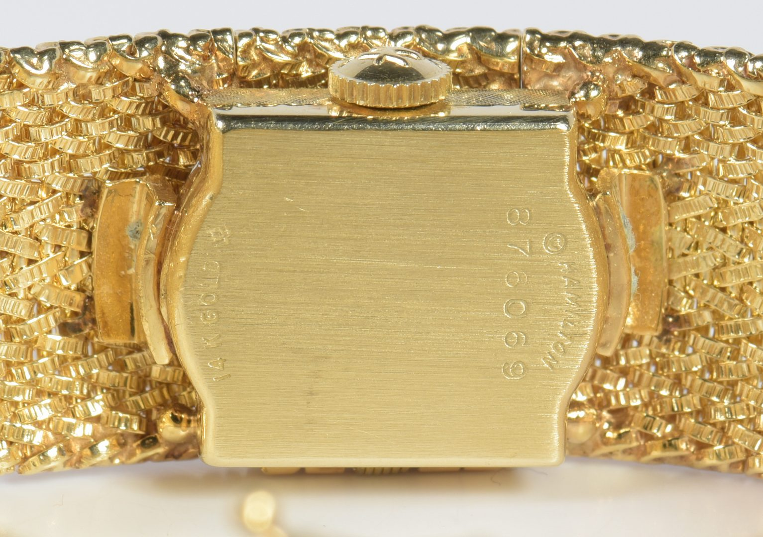 Lot 789: Ladies 14K Hamilton Bracelet Watch