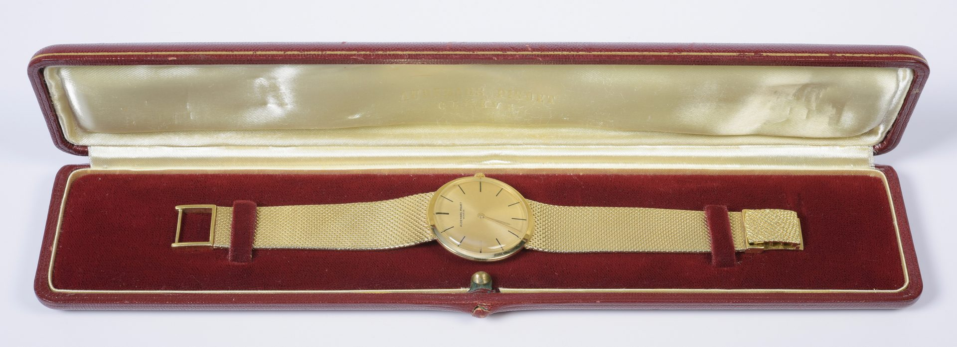 Lot 790: Mens 18K Audemars Piquet Dress Watch