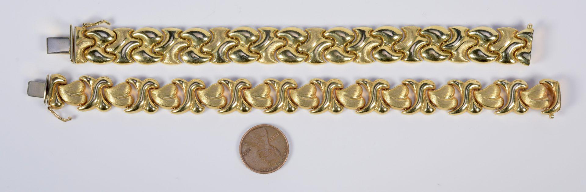 Lot 797: Two 14K Link Bracelets, 37.9 grams