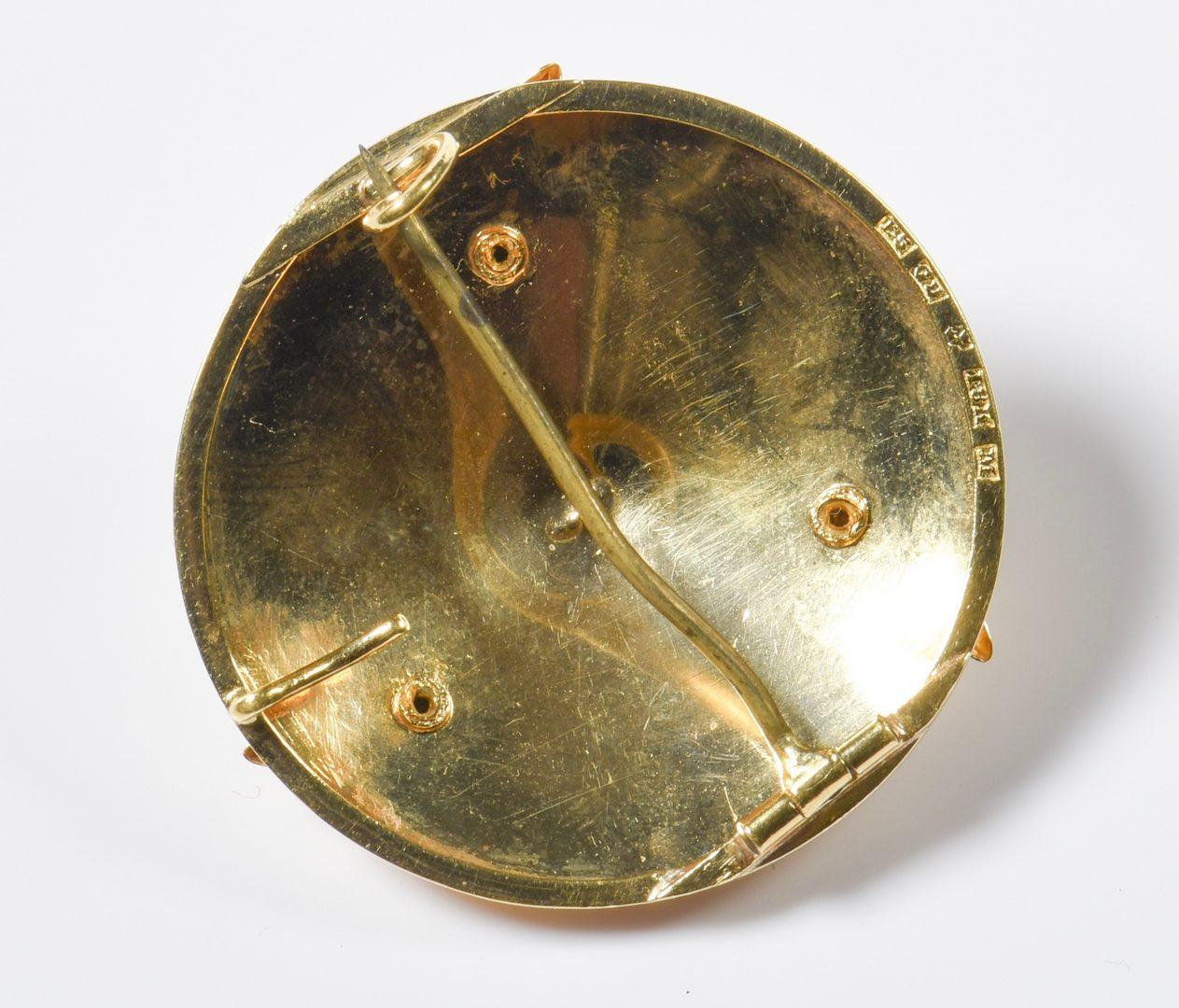 Lot 807: 2 18K Pins incl. Vintage Gustav Dahlgren