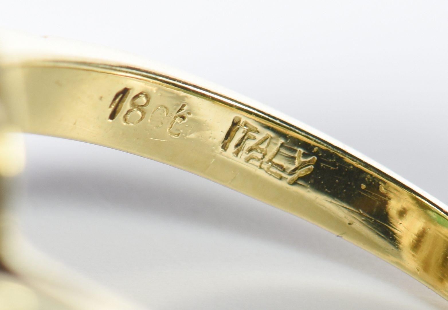 Lot 810: Two 18K Italian Fashion Rings