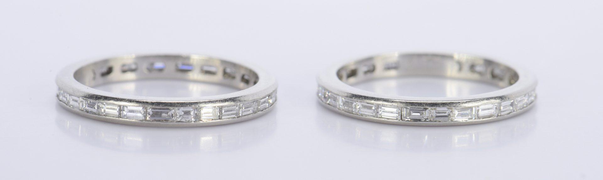 Lot 813: Pair Diamond Platinum Eternity Rings