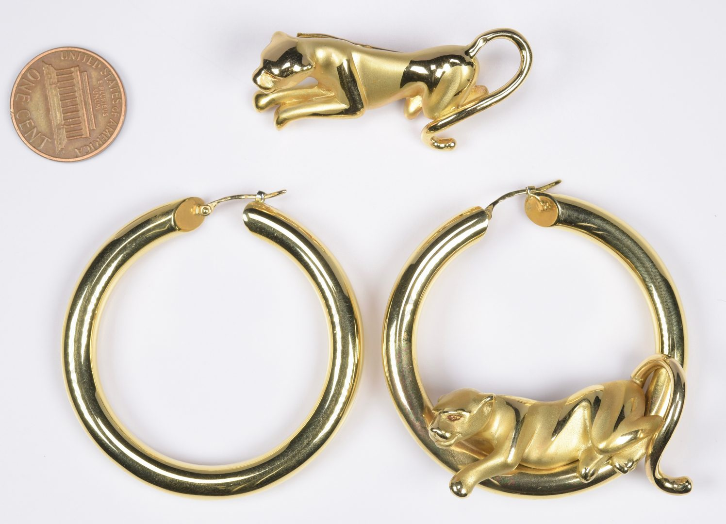 Lot 814: Charles Garnier 18K Panther Jewelry