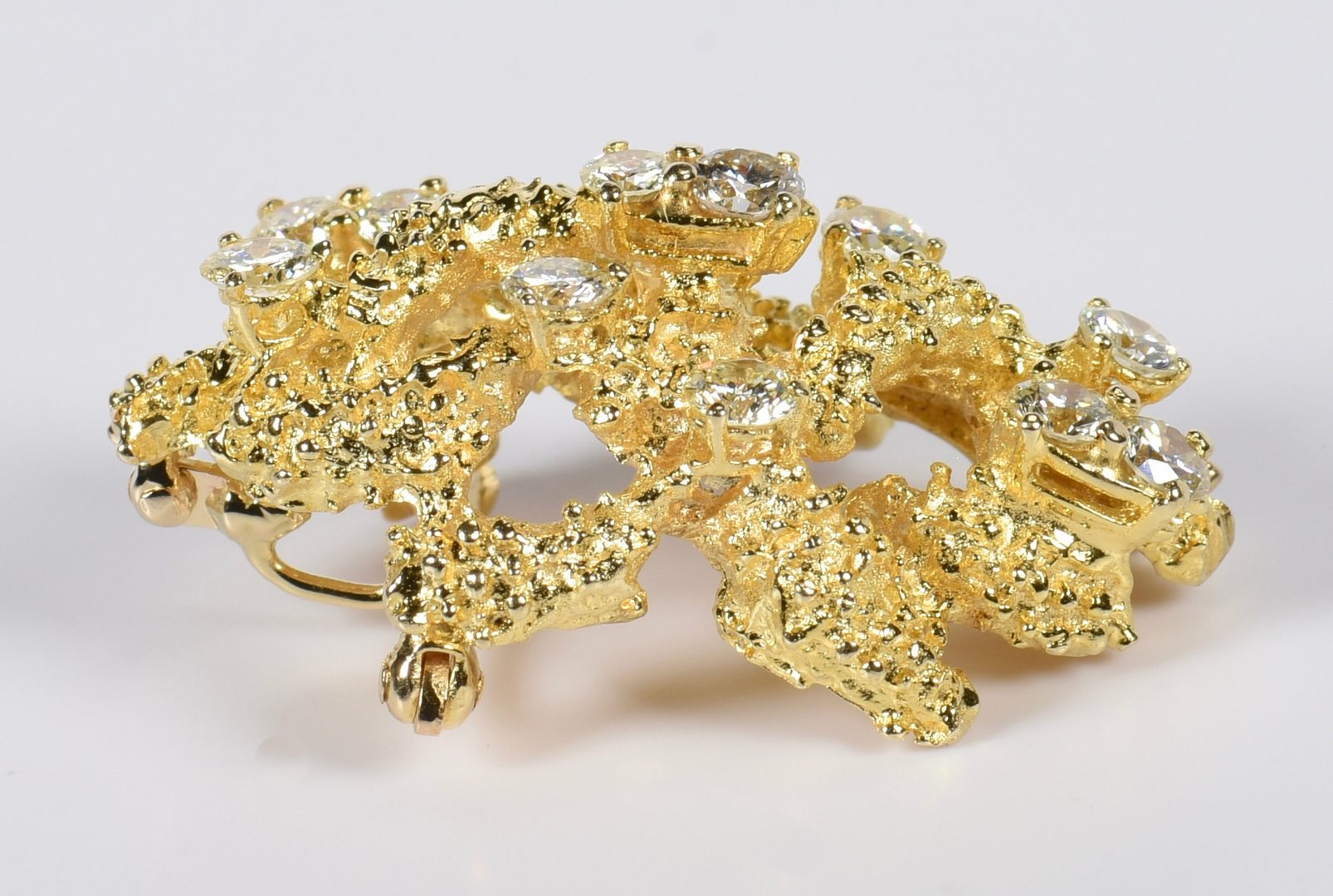 Lot 816: 14K Organic Diamond Pin/Pendant