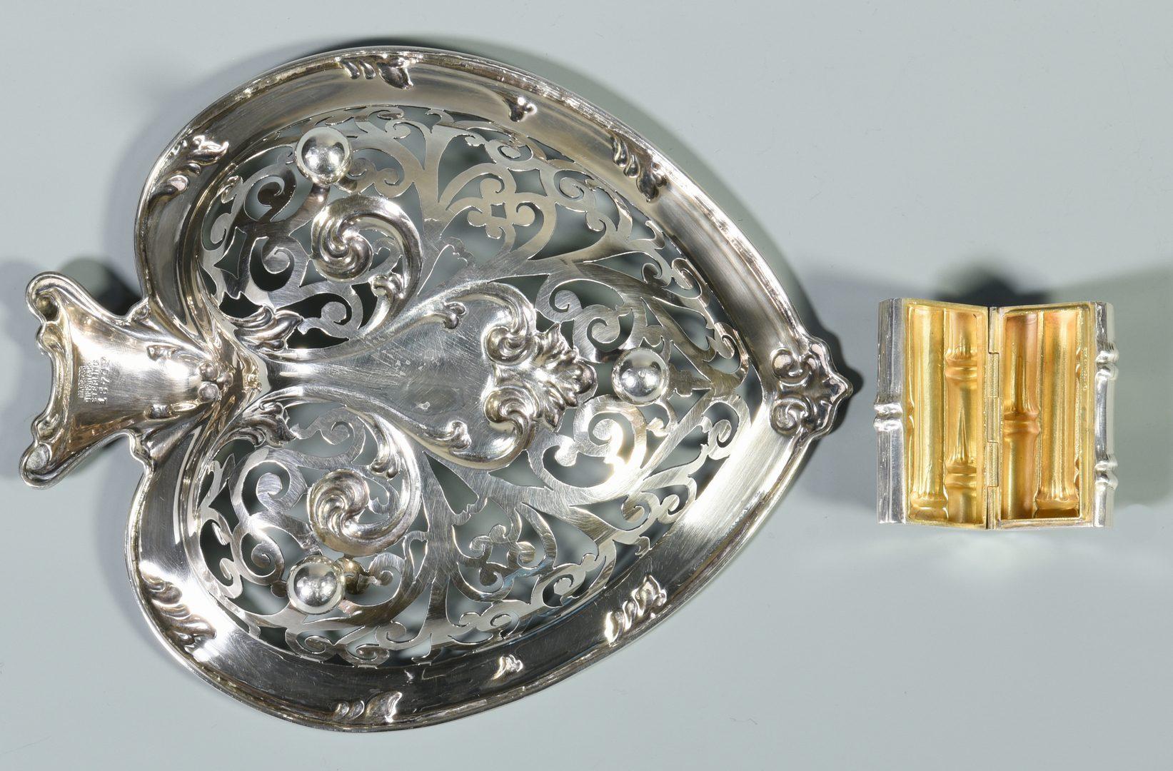Lot 820: Tiffany Travel Set and Heart Dish, 5 items