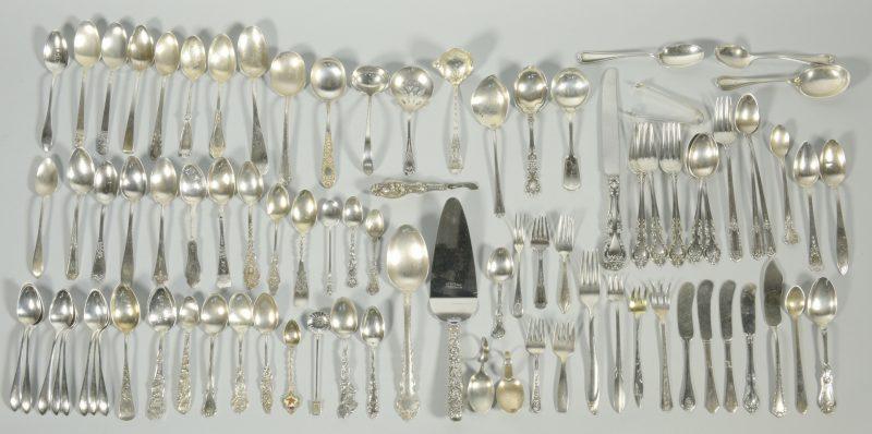 Lot 829: 75 pcs. Sterling Silver Flatware