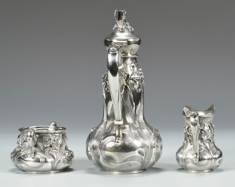 Lot 831: Art Nouveau Tea Set, Wm B. Kerr & Co.