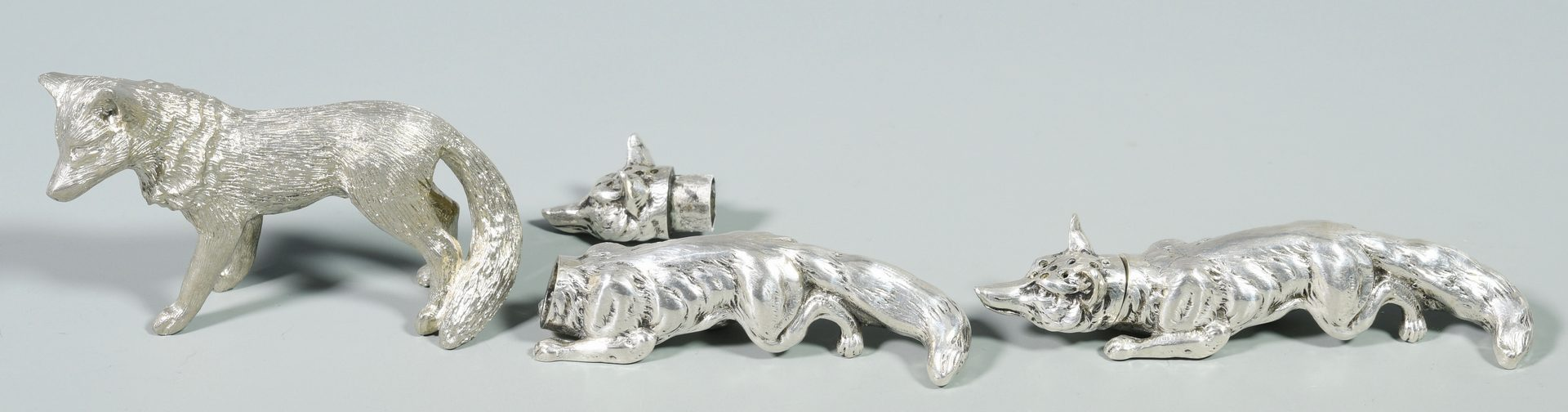 Lot 832: 7 Silver Animal Figures