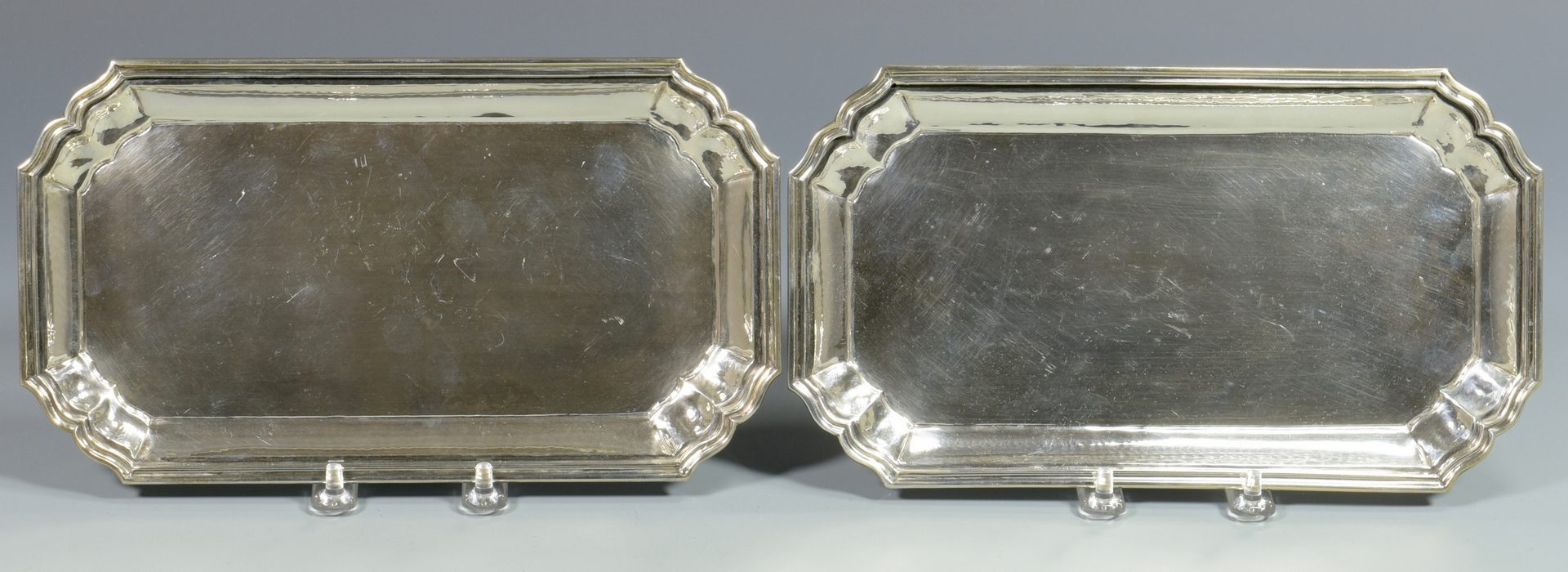Lot 839: 3 Sterling Silver Trays, 2 Buccellati